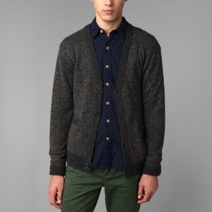 O'Hanlon Mills Cardigan Sweater In Grey